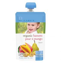 Bellamy's Organic Banana, Pear & Mango 120g
