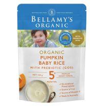 Bellamy's Organic Pumpkin Baby Rice with Prebiotic 125g