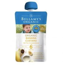 Bellamy's Organic Banana Custard with Flaxseed 120g