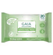 Gaia Natural Baby Bamboo Wipes 20 Pack