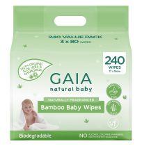 Gaia Natural Baby Bamboo Wipes 240 Pack