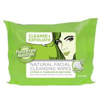 Essenzza Fuss Free Facial Wipes Cleanse & Exfoliate 25 Pack