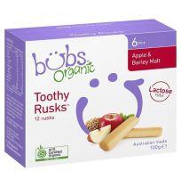 Bubs Organic Apple Barley Toothy Rusks 100g