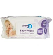babyU Baby Wipes Fragrance Free 80 Pack