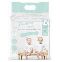 Pandas by LuvMe Eco Nappies Extra Large 14 Pack Unisex