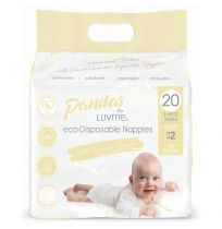 Pandas by LuvMe Eco Nappies Small 22 Pack Unisex