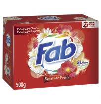 Fab Front & Top Loader Laundry Powder Sunshine Fresh 500g