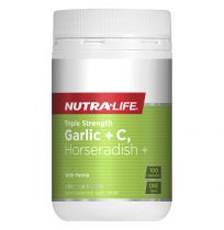 Nutra Life Triple Strength Garlic + C, Horseradish 100 Capsules