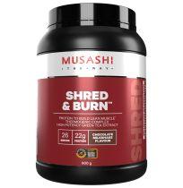 Musashi Shred and Burn Protein Powder Chocolate 900g