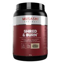 Musashi Shred and Burn Protein Powder Vanilla 900g