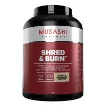 Musashi Shred and Burn Protein Powder Vanilla 2kg